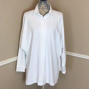 Collar Tunic Length 100% Cotton Medium-Weight